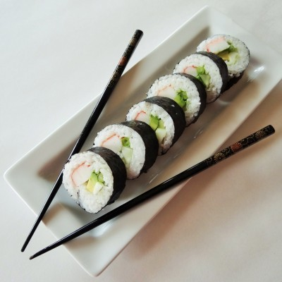 Homemade California Sushi Roll