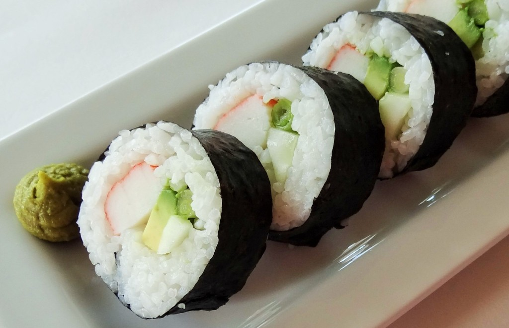 Homemade California Sushi Roll -