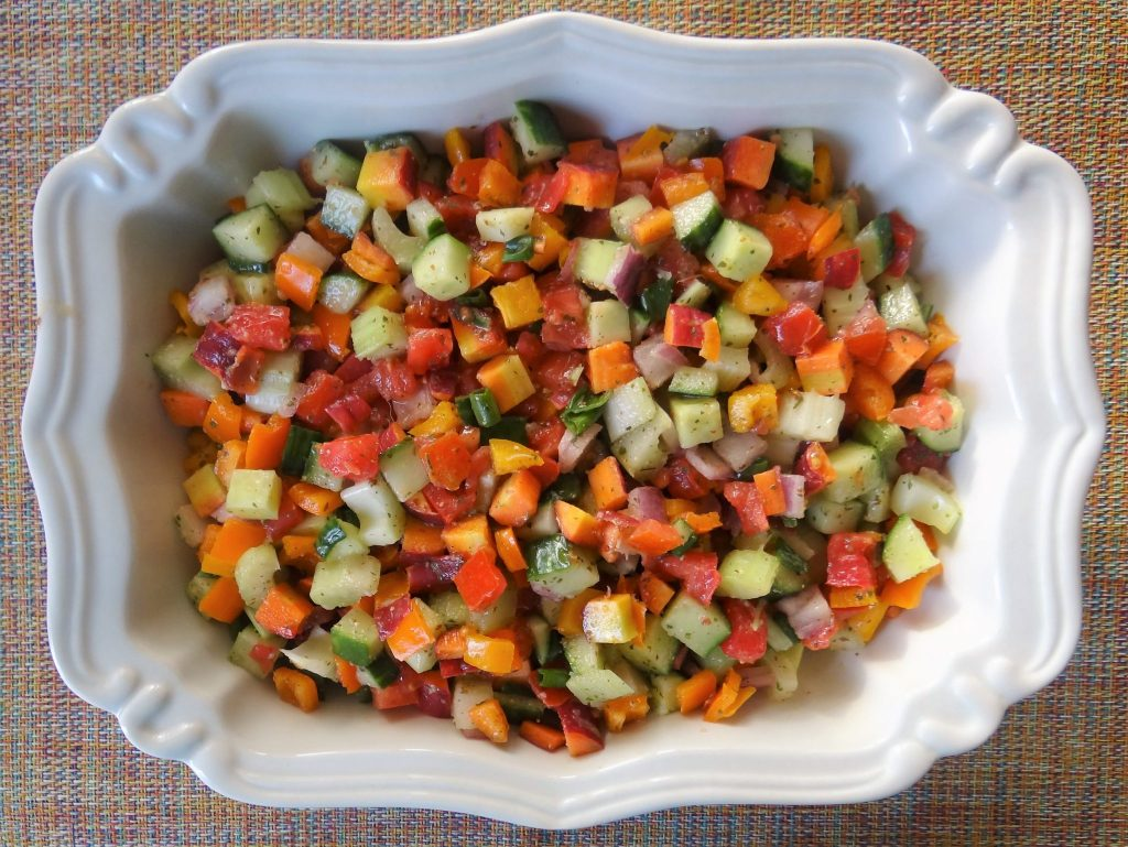 Vegetable Chopped Salad With Fresh Herb Vinaegrette