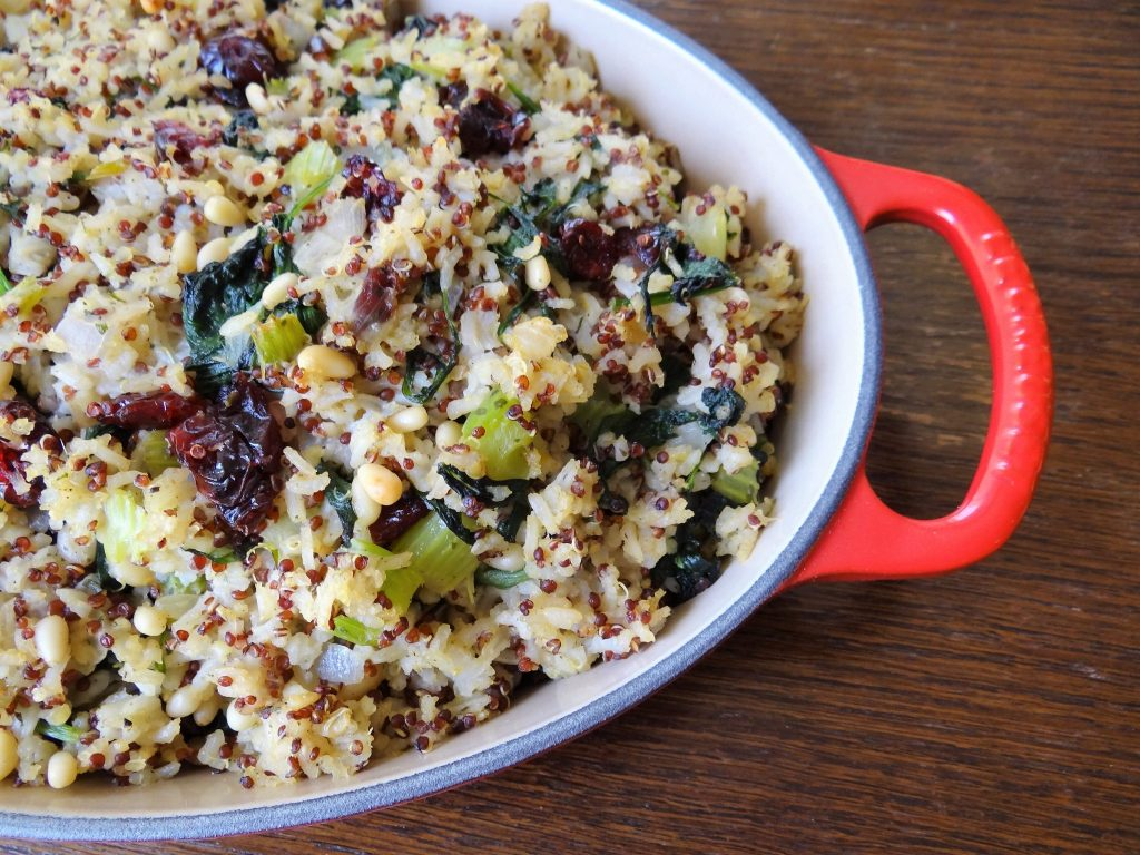Quinoa and Red Rice Stuffing