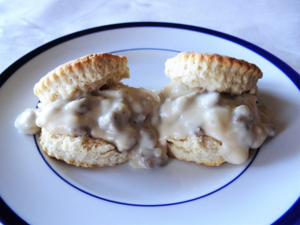 Lighter Biscuits and Gravy
