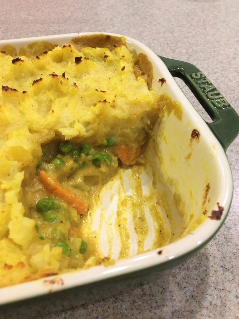 Curried Vegetable Shepherds Pie