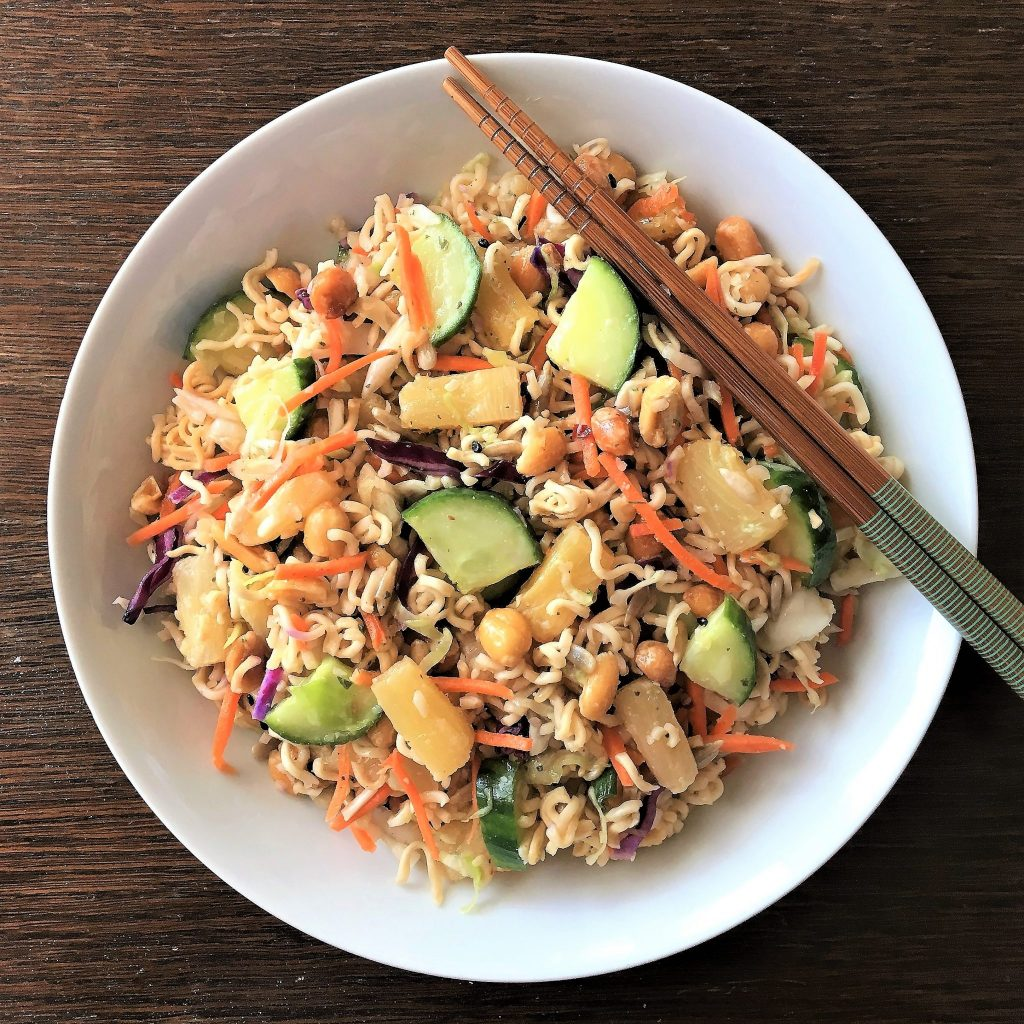 Healthy Asian Ramen Salad
