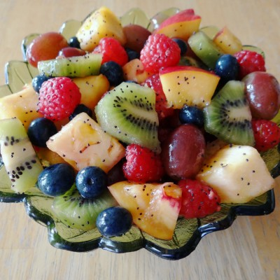 Summer Fruit Salad with Strawberry Citrus Dressing